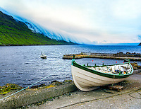 Faroe Islands. Elduvik is a small village on Eysturoy.