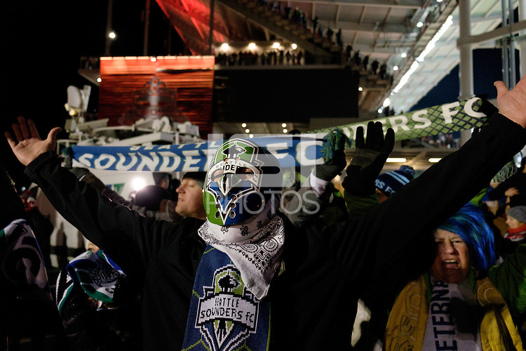 Toronto, ON, Canada - Saturday Dec. 10, 2016: Fans prior to the MLS Cup finals at BMO Field.
