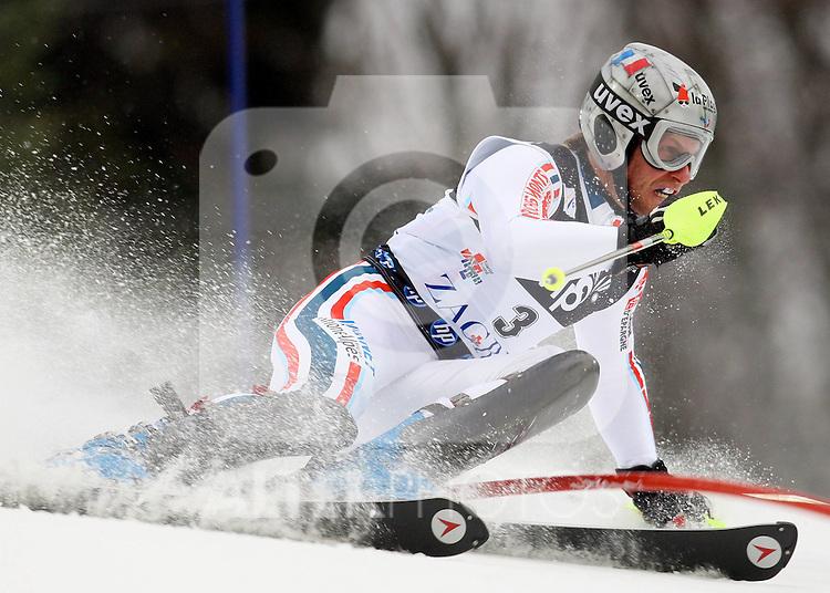 06.01.2011., Sljeme, Zagreb, Hrvatska - .Prva slalom voznja muske utrke Snow Queen Trophy za FIS svjetski kup. .Julien Lizeroux.                                                                                                 Foto:   nph / PIXSELL