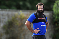 Kane Palma-Newport of Bath Rugby looks on. Bath Rugby training session on August 4, 2015 at Farleigh House in Bath, England. Photo by: Patrick Khachfe / Onside Images