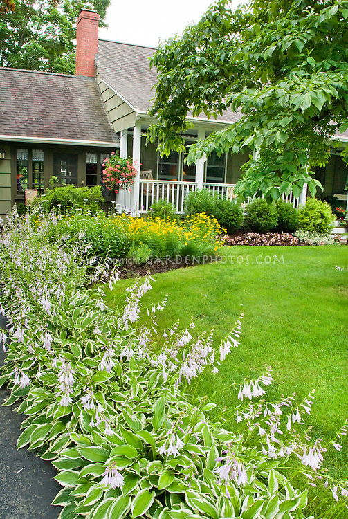 Curb Appeal Front House Gardening Plant Amp Flower Stock