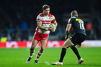 Henry Purdy of Gloucester Rugby in possession. Aviva Premiership match, between Harlequins and Gloucester Rugby on December 27, 2016 at Twickenham Stadium in London, England. Photo by: Patrick Khachfe / JMP
