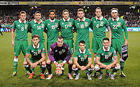 08/10/2015; UEFA Euro 2016 Group D Qualifier - Republic of Ireland v Germany, Aviva Stadium, Dublin. <br /> The Ireland team.<br /> Picture credit: Tommy Grealy/actionshots.ie.