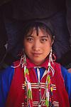 China, a Yi woman in Lijiang, Yunnan Province