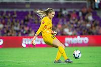 Orlando, FL - Saturday October 12, 2019: Casey Murphy , Orlando Pride vs Reign FC at Exploria Stadium.