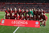 24th March 2018, Anfield, Liverpool, England; LFC Foundation Legends Charity Match 2018, Liverpool Legends versus FC Bayern Legends; Liverpool Legends line up before the kick off
