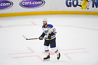 June 6, 2019: St. Louis Blues defenseman Alex Pietrangelo (27) on the ice during game 5 of the NHL Stanley Cup Finals between the St Louis Blues and the Boston Bruins held at TD Garden, in Boston, Mass. The Blues defeat the Bruins 2-1 in regulation time. Eric Canha/CSM