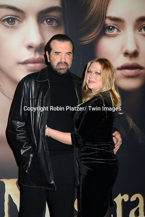 "Chazz Palminterre and wife attend the American Premiere of ""Les Miserables"" on December 10, 2012 at the Ziegfeld Theatre in New York City. The movie stars Hugh Jackman, Anne Hathaway, Amanda Seyfried, Eddie Redmayne, Russell Crowe, Samantha Barks, Isabelle Allen and Sacha Baron Cohen."