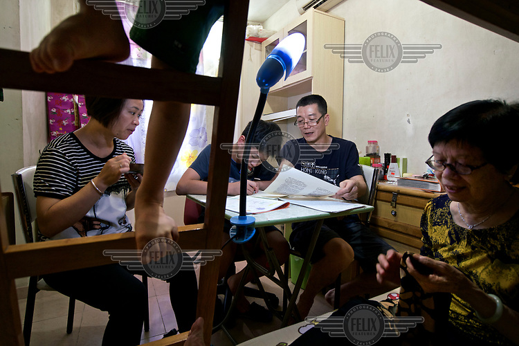 A family of five living on a social housing estate in Hong Kong.