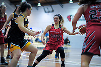 Canterbury's Shea Crotty in action during the 2018 Women's Basketball League match between Canterbury Wildcats and Taranaki Thunder at Cowles Stadium in Christchurch, New Zealand on Sunday, 24 June 2018. Photo: Dave Lintott / lintottphoto.co.nz