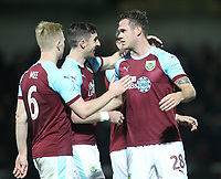 Burnley's Kevin Long celebrates scoring his sides first goal <br /> <br /> Photographer Mick Walker/CameraSport<br /> <br /> The Carabao Cup Round Three   - Burton Albion  v Burnley - Tuesday  25 September 2018 - Pirelli Stadium - Buron On Trent<br /> <br /> World Copyright &copy; 2018 CameraSport. All rights reserved. 43 Linden Ave. Countesthorpe. Leicester. England. LE8 5PG - Tel: +44 (0) 116 277 4147 - admin@camerasport.com - www.camerasport.com