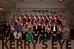 The contestants and judges at the Causeway Strictly Come dancing in the Ballyroe Heights Hotel on Friday night.