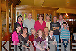 Enjoying Nora Carr's birthday at Leen's Hotel. Abbeyfeale last Sunday was front l-r Aoife King, Bridget Carr, Nora Carr (birthday girl), Amy O'Sullivan, Helen King and Liam King. Back l-r Noreen Carr, Billy Carr, Margaret O'Sullivan, Pat McSweeney, Pat King, Eamon O'Sullivan and Shane O'Sullivan.   Copyright Kerry's Eye 2008