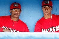 July 24, 2009:  Luis De La Cruz and Guillermo Toribio of the Batavia Muckdogs during a game at Dwyer Stadium in Batavia, NY.  The Muckdogs are the NY-Penn League Short-Season Class-A affiliate of the St. Louis Cardinals.  Photo By Mike Janes/Four Seam Images