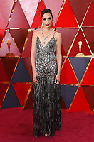 Gal Gadot arrives at the Oscars on Sunday, March 4, 2018, at the Dolby Theatre in Los Angeles. (Photo by Richard Shotwell/Invision/AP)