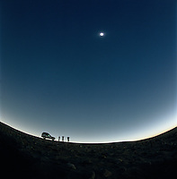 Travellers watching the Solar Eslipse in the Sahara Desert, Libya, 2006