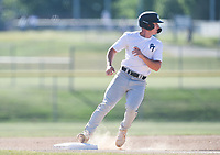 PT White Lucas McCain (9) runs to third before scoring, Thursday, June 25, 2020 during a baseball game at the Randall Tyson Recreational Complex in Springdale. Check out nwaonline.com/200626Daily/ for today's photo gallery. <br /> (NWA Democrat-Gazette/Charlie Kaijo)