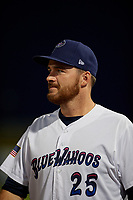 Pensacola Blue Wahoos Alex Phillips (25) during a Southern League game against the Mobile BayBears on July 25, 2019 at Blue Wahoos Stadium in Pensacola, Florida.  Pensacola defeated Mobile 3-2 in the second game of a doubleheader.  (Mike Janes/Four Seam Images)