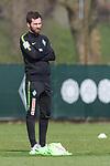 10.04.2018, Trainingsgelaende, Bremen, GER, 1.FBL, Training SV Werder Bremen<br /> <br /> im Bild<br /> S&ouml;nke / Soenke Hachmann (Athletiktrainer Eisb&auml;ren Bremerhaven) hospitiert f&uuml;r zwei Tage bei Werder Bremen, <br /> <br /> Foto &copy; nordphoto / Ewert