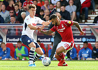 Preston North End's Ryan Ledson battles with Nottingham Forest's Tiago Silva<br /> <br /> Photographer David Shipman/CameraSport<br /> <br /> The EFL Sky Bet Championship - Nottingham Forest v Preston North End - Saturday 31st August 2019 - The City Ground - Nottingham<br /> <br /> World Copyright © 2019 CameraSport. All rights reserved. 43 Linden Ave. Countesthorpe. Leicester. England. LE8 5PG - Tel: +44 (0) 116 277 4147 - admin@camerasport.com - www.camerasport.com