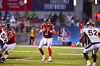 Ohio, Canton - August 1, 2019: Atlanta Falcons quarterback Matt Schaub #8 during a pre-season game against the Denver Broncos at the Tom Benson stadium in Canton, Ohio August 1, 2019. This game marks start of the 100th season of the NFL. (Photo by Don Baxter/Media Images International)