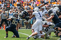 Pitt running back James Conner scores. The Pitt Panthers defeated the Penn State Nittany Lions 42-39 at Heinz Field, Pittsburgh, Pennsylvania on September 10, 2016.