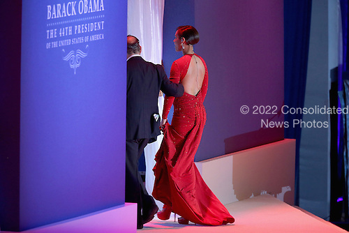 Recording artist Alicia Keys leaves after performing during the Commander-In-Chief Ball celebrating the inauguration of U.S. President Barack Obama at the Walter Washington Convention Center January 21, 2013 in Washington, DC. President Obama started his second term by taking the Oath of Office earlier in the day during a ceremony on the West Front of the U.S. Capitol. .Credit: Chip Somodevilla / Pool via CNP