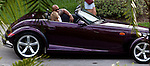May 25th 2012  Exclusive ....The Rock Dwayne Johnson driving in a purple Prowler while filming the movie Pain & Gain in Coral Gables Florida with actress Bar Paly ....AbilityFilms@yahoo.com.805-427-3519.www.AbilityFilms.com