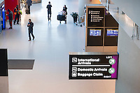 A view of the check-in area in Logan Airport Terminal E, the airport's international terminal, in Boston, Massachusetts, USA. An Executive Order signed by President Donald Trump bans travel for many from seven Muslim-majority countries.