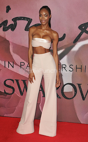 Jourdan Dunn at the Fashion Awards 2016, Royal Albert Hall, Kensington Gore, London, England, UK, on Monday 05 December 2016. <br /> CAP/CAN<br /> ©CAN/Capital Pictures /MediaPunch ***NORTH AND SOUTH AMERICAS ONLY***