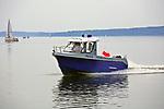 Giżycko, 2007-08-06. Patrol policji wodnej na jeziorze Niegocin