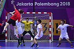 Motoki Sakai (JPN), <br /> AUGUST 17, 2018 - Handball : Men's Preliminary Round match between <br /> Korea 26-26 Japan at GOR Popki Cibubur during the 2018 Jakarta Palembang Asian Games in Jakarta, Indonesia. <br /> (Photo by MATSUO.K/AFLO SPORT)