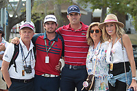 Nacho Elvire (ESP) and family during the second round of the Mutuactivos Open de Espana, Club de Campo Villa de Madrid, Madrid, Madrid, Spain. 04/10/2019.<br /> Picture Hugo Alcalde / Golffile.ie<br /> <br /> All photo usage must carry mandatory copyright credit (© Golffile | Hugo Alcalde)