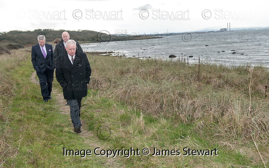 Lord Matthews at the Deposition Site at Gosford Bay where the body of Christine Eadie was found. <br /> <br />    <br /> Angus Sinclair is on trial accused of murdering two teenagers, Helen Scott and Christine Eadie, who were last seen on a night out at the World's End pub on Edinburgh's Royal Mile Edinburgh in October 1977.