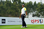 Ankur Chadha of India tees off during the 2011 Faldo Series Asia Grand Final on the Faldo Course at Mission Hills Golf Club in Shenzhen, China. Photo by Victor Fraile / Faldo Series