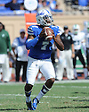 Duke Blue Devils Anthony Boone (7) during a game against the Tulane Green Wave on September 20, 2014 at Wallace Wade Stadium in Durham, NC. Duke beat Tulane 47-13.