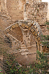Israel, Jerusalem, The Jewish Quarter at the Old City. The ruins of St. Mary of the Germans, an early 12th century Crusader church<br />