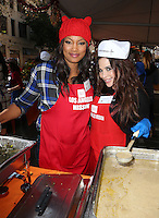 Los Angeles, CA - NOVEMBER 23: Garcelle Beauvais, Brooke Lewis, At Los Angeles Mission Thanksgiving Meal For The Homeless At Los Angeles Mission, California on November 23, 2016. Credit: Faye Sadou/MediaPunch
