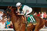 """October 07, 2018 : #11 Blue Prize (ARG) and jockey Joe Bravo win the 63rd running of The Juddmonte Spinster (Grade 1) $500,000 """"Win and You're In Breeders' Cup Distaff Division"""" for trainer Ignacio Correas, IV and owner Merriebelle Stable at Keeneland Race Course on October 07, 2018 in Lexington, KY.  Candice Chavez/ESW/CSM"""