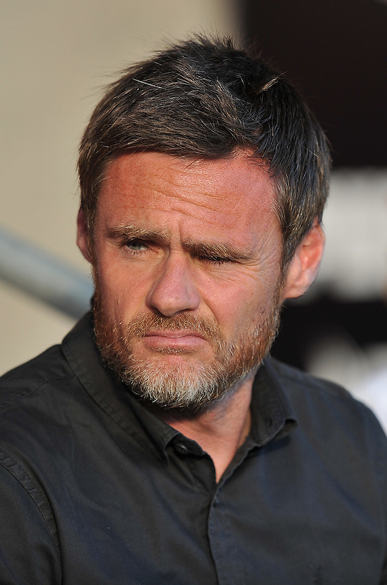 Fleetwood Town's Manager Graham Alexander<br /> <br /> Photographer Dave Howarth/CameraSport<br /> <br /> Football - Capital One Cup First Round - Fleetwood Town v Hartlepool United - Tuesday 11th August 2015 - Highbury Stadium - Fleetwood<br />  <br /> &copy; CameraSport - 43 Linden Ave. Countesthorpe. Leicester. England. LE8 5PG - Tel: +44 (0) 116 277 4147 - admin@camerasport.com - www.camerasport.com