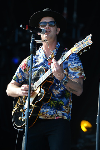 FORT LAUDERDALE FL - APRIL 07: Garrett Dutton of G. Love & Special Sauce performs during the Tortuga Music Festival held at Fort Lauderdale Beach on April 07, 2017 in Fort Lauderdale, Florida.  Credit: mpi04/MediaPunch