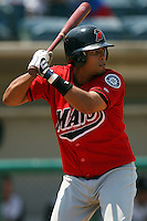 July 16 2008: Geraldo Valentin of the High Desert Mavericks during game against the Rancho Cucamonga Quakes at The Epicenter in Rancho Cucamonga,CA.  Photo by Larry Goren/Four Seam Images
