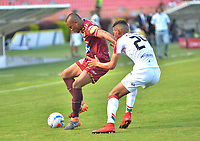 IBAGUE - COLOMBIA, 20-05-2018:Acción de juego entre los equipos Deportes Tolima y Once Caldas  durante partido de vuelta por los cuartos de final de la Liga Águila I 2018 jugado en el estadio Manuel Murillo Toro de la ciudad de Ibagué. / Action game between  Deportes Tolima and Once Caldas  during second leg match for the quarterfinals of the Aguila League I 2018 played at Manuel Murillo Toro in Ibague city. VizzorImage / Juan Carlos Escobar / Cont