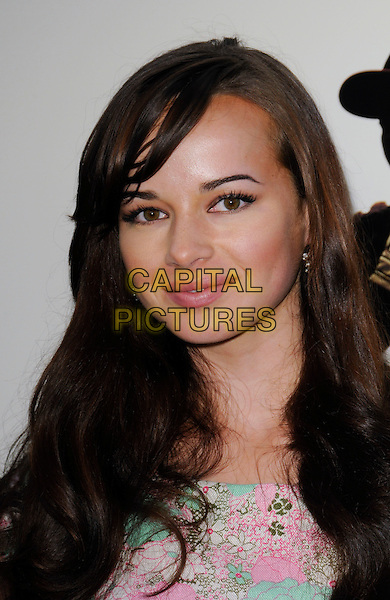 "ASHLEY RICKARDS.""The Perfect Game"" Los Angeles Premiere held At The Pacific Theaters at the Grove, Los Angeles, California, USA. .April 5th, 2010 .headshot portrait white pink blue floral print  .CAP/ROT.©Lee Roth/Capital Pictures"