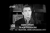 Chicago, Illinois.USA.April 4, 2003..The main anchorman for Fox News Shepard Smith during the war with Iraq.