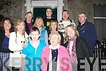 LA A CARTE: Kathleen Murphy, Glencar who was treated to an La Carte dinner in Finnegans restaurant,Denny Street, Tralee on nSunday night by her family to mark a big birthday. Front l-r: Luke M O'Sullivan, Kathleen Murphy(birthday lady) and Agnes Collins. Backl were Tresa Murphy, Deirdre Murphjy, John Collins, Kathleen Murphy, Eoin and John Murphy, Bridget Kerins and Philip O'Sullivan............. ....