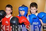 Three young boxers who took part in the launch of Listowel boxing club on Friday night.  Killian Walsh, Cashen Vale boxing club, Mark O'Shea, Knocknagoshel and.Luke O'Brien, Killorglin..