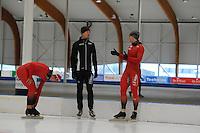SCHAATSEN: LEEUWARDEN: 20-06-2016, ELFSTEDENHAL, Zomerijs, Noorse schaatsers met nieuwe sprinttrainer Jeremy Wotherspoon, Espen Aarnes Hvammen, ©foto Martin de Jong