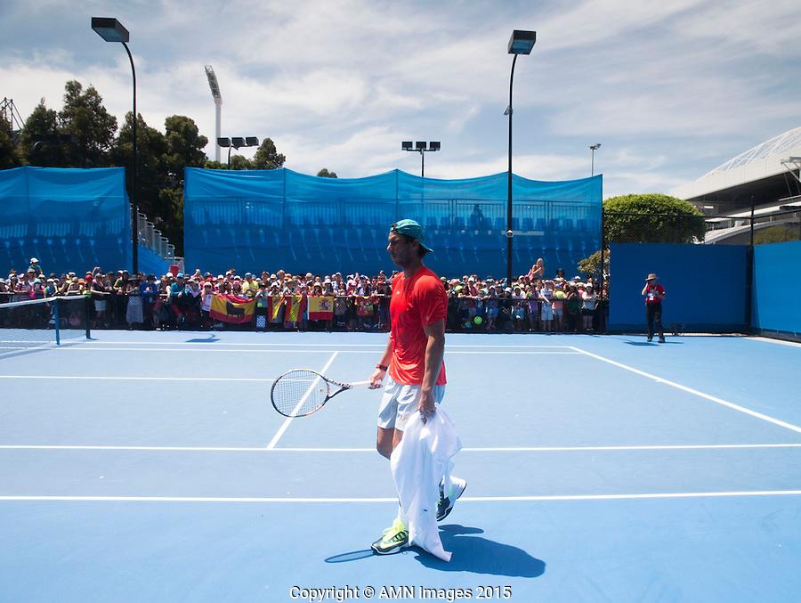 Rafael Nadal (ESP) Tony Nadal (ESP)<br /> <br /> Tennis - Australian Open 2015 - Grand Slam -  Melbourne Park - Melbourne - Victoria - Australia  - 24 January 2015. <br /> &copy; AMN IMAGES