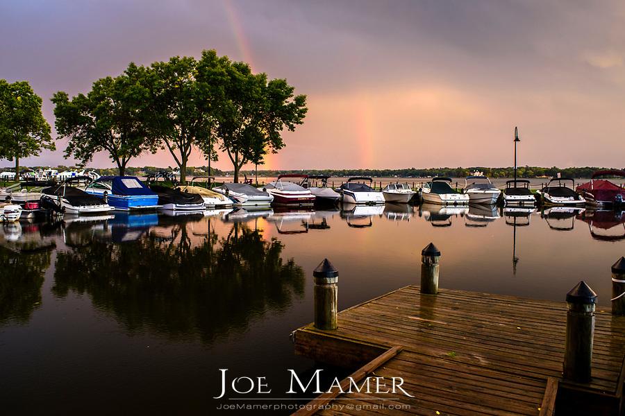 Rainbow over Wayzata Bay, Lake Minnetonka.